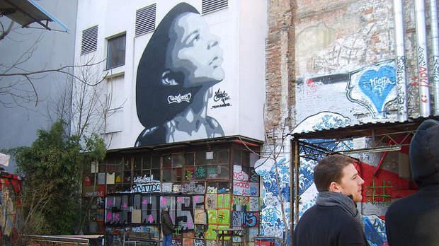 Yelling to the Sky graffitti