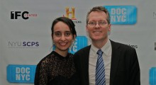 DOC NYC executive directors Raphaela Neihausen and artistic director Thom Powers at the festival's 2011 opening night.