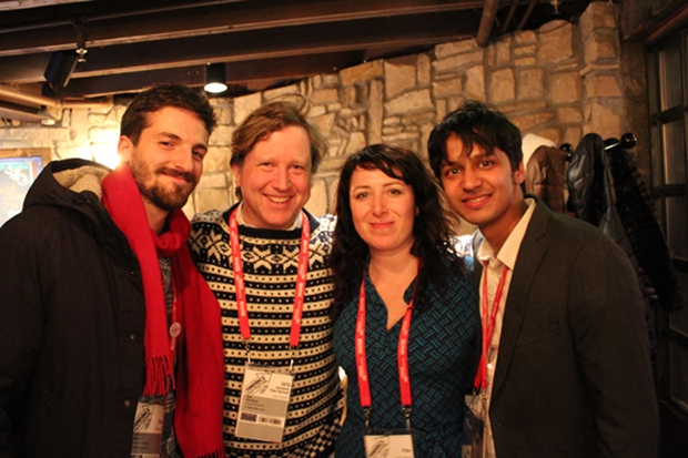 The team behind Eliza Hittman's <i>It Felt Like Love</i> at the IFP's Sundance party.