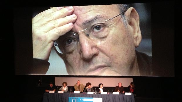 Honoring Theo Angelopoulos at Thessaloniki (Photo by Ray Pride)
