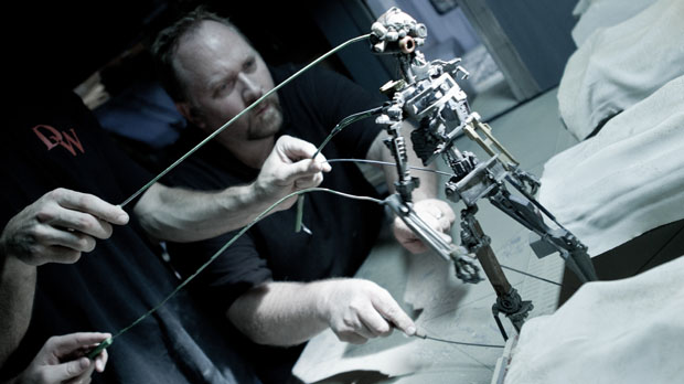 Animating the rod-puppet
