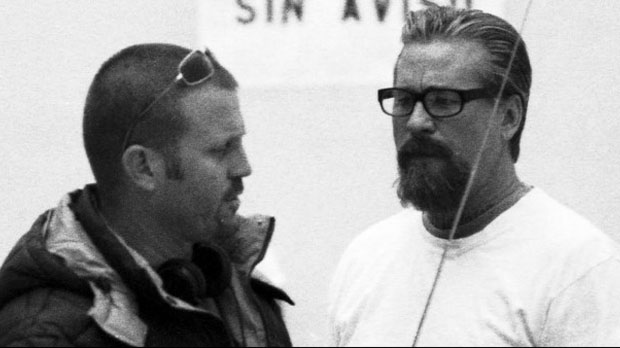 Ric Roman Waugh with Val Kilmer on the set of Felon
