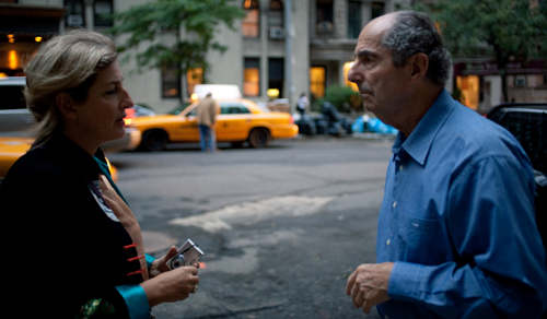 Director Livia Manera with Philip Roth