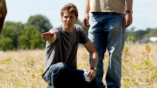 Jeff Nichols on the set of Mud