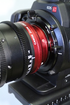 EF mount with locking ring like PL on Canon C500.