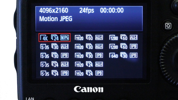 The many codec choices of Canon's 1D C.