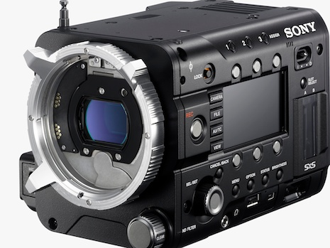 Sony's F55 is hardly larger than its universal FZ mount, whose minimal flange-focal depth invites PL, Canon EF, Nikon, and Leica R adapters.