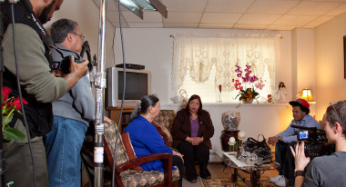 "Behind-the-scenes shooting ""Councilwoman Castillo"""