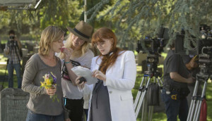 Bryce Dallas Howard on set