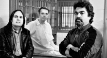 Sinofsky (at left), Damian Echols and Joe Berlinger, from Paradise Lost 3.