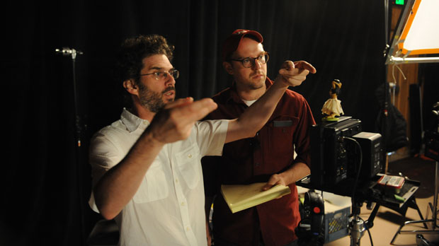 Director Joshua Marston advises Russell Harbaugh at the Sundance Directots Labs (Photo by Fred Hayes)