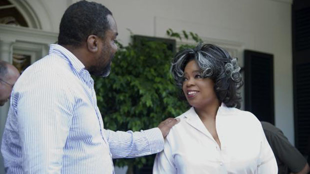 Lee Daniels with Oprah Winfrey during the filming of The Butler