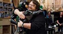 del Toro on the set of Pacific Rim