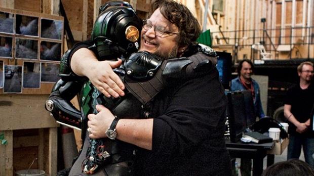 del Toro on the set of Pacific Rim