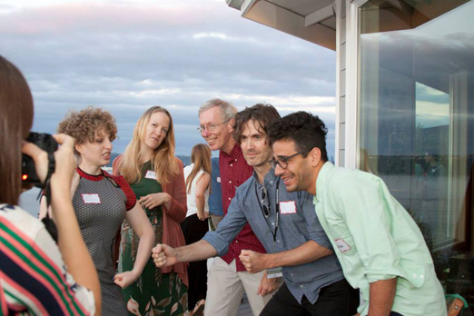 Elaine McMillion captures Leah Shore, Emily Carmichael, Philip Cowan,  Daniel Hart and Nandan Rao being a bit silly.