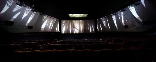 A KIA Motors ad plays in Screen X