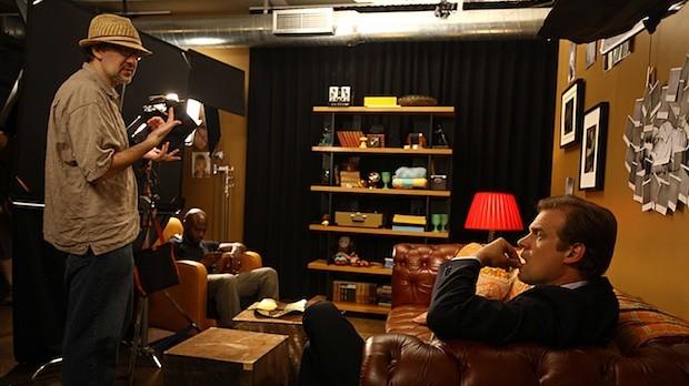 Dan Mirvish directs Taye Diggs and David Harbour on set of Between Us