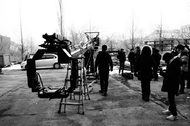 Filming a Screen X production
