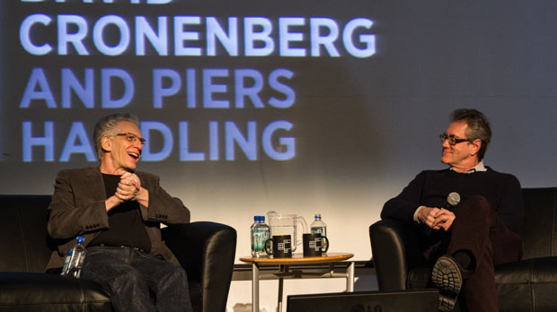 David Cronenberg with Piers Handling (Photo by Angie Griffith)
