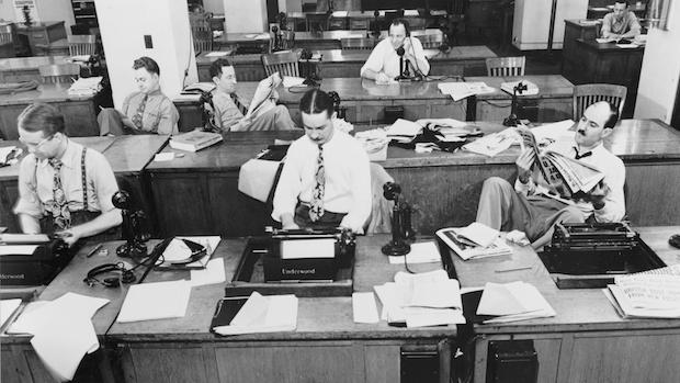 NY Times Newsroom, 1942