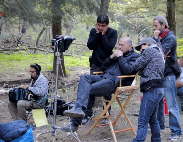 Director Hany Abu-Assad on the set of Omar . Courtesy Adopt Films.