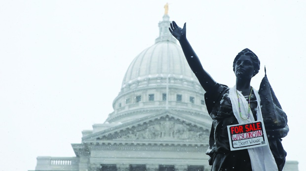 Madison, Wisconsin, State Capitol, February 2011