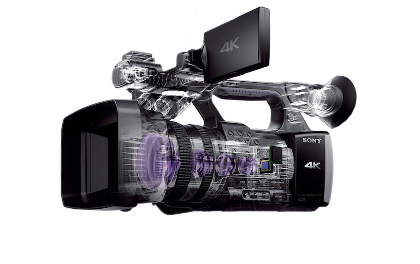 4k Handycam Sony PXW-Z100 is more lens than camera.