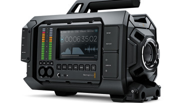 Blackmagic URSA, showing audio panel