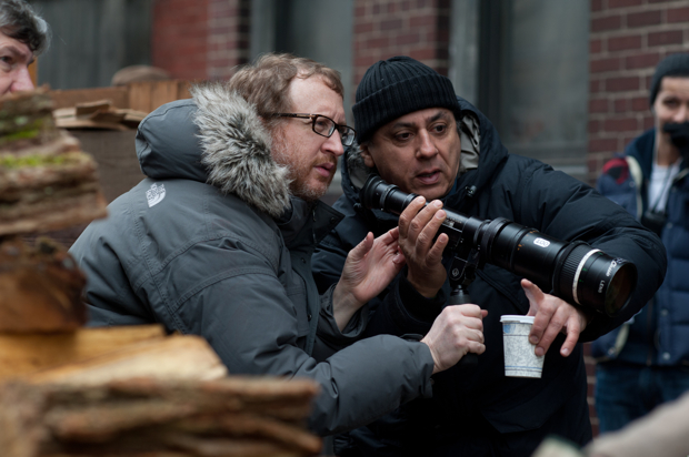 James Gray and Darius Khondji on the set of The Immigrant