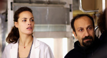 Bérénice Bejo and Asghar Farhadi on the set of The Past