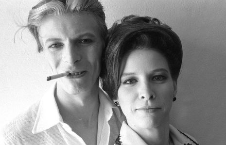 David Bowie and Candy Clark.