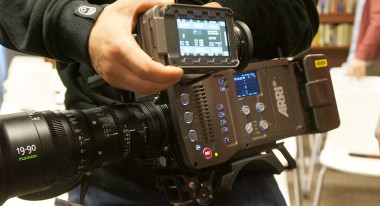 ARRI AMIRA and viewfinder. With that lens attached it was surprisingly heavy