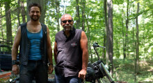 Gerald Butler (l) and Sam Childers (r), 2011 (Photo by Phil Bray)