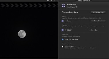 New Library Panel media management features in Final Cut Pro X