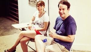 Liliana Greenfield-Sanders and Mike Birbiglia at last year's Wassaic Project Film Festival.