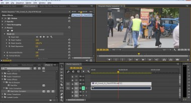 Adding an effects mask in Premiere Pro: Courtesy Adobe
