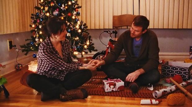 Melanie Lynskey and Joe Swanberg in Happy Christmas