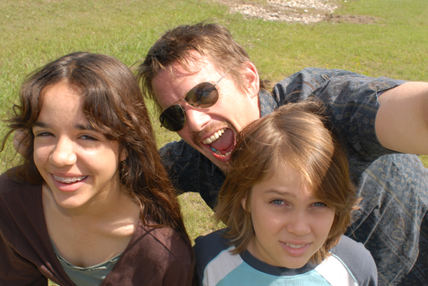 Lorelei Linklater, Ethan Hawke and Ellar Coltrane
