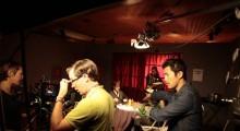 Johnny Ma on set (Photo by Ryan Johnson)