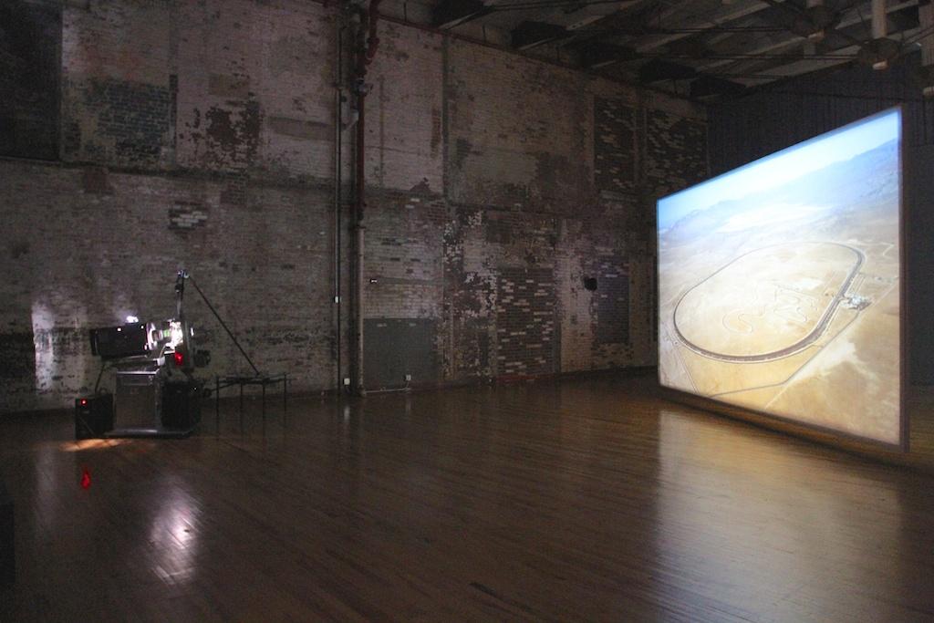 "Rosa Barba's ""The Long Road,"" 2010. Looped 35mm depicting looped asphalt."