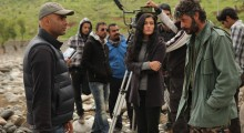 "Helly Luv on the set of ""Mardan"" directed by Batin Ghobadhi."