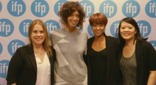 Left to right: Rebecca Green, Elisabeth Holm, Lisa Biagiotti and Mynette Louie at the IFP Filmmaker Conference.