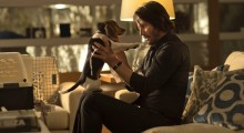 Keanu Reeves and canine friend in John Wick