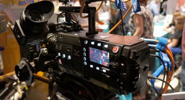 Rear view of VariCam 35 showing recorder and detachable control panel