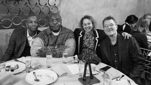 "From left: Freddie Pendavis, James Goode, aka ""Junior LaBeija"", Jennie Livingston, Jonathan Oppenheim. Photo: Spencer Worthley."