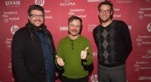 Left to Right: Director Michael T. Vollmann, Sundance Short Film Programmer Mike Plante, and Producer Chris James Thompson. (Photo: Smarthouse Creative)