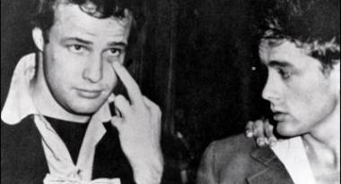 Marlon Brando, left