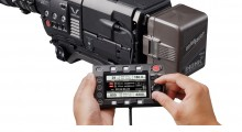 Trending modularity and remote control both evident in VariCam 35 user interface, detached from recording module by cable.
