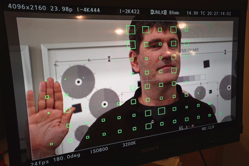 Live long and prosper, from the planet VariCam? No, it's Abel Cine Tech's Andrew Finkel demonstrating VariCam's unique multi-zone focus system.