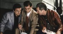 Joe Pesci, Ray Liotta and Robert De Niro in Goodfellas